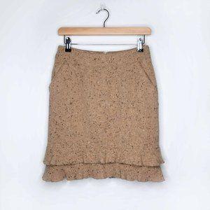 Pink Tartan wool ruffled hem mini skirt - size 4